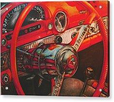 Thunderbird Red Acrylic Print by Kathleen Bischoff