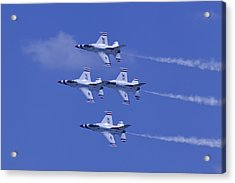 Thunderbirds Diamond Formation Topsides Acrylic Print