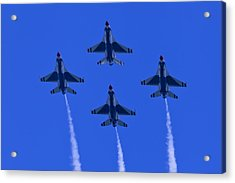 Thunderbirds Diamond Formation Undersides 2 Acrylic Print