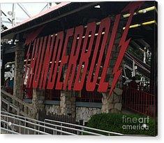 Thunderbolt Roller Coaster Acrylic Print by Michael Krek