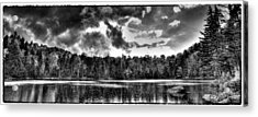 Thunderclouds Over Cary Lake Acrylic Print by David Patterson