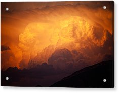 Acrylic Print featuring the photograph Thunderhead At Sunset by Brad Brizek