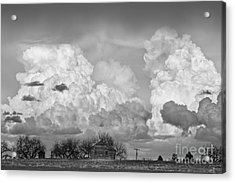 Thunderstorm Clouds And The Little House On The Prarie Bw Acrylic Print by James BO  Insogna
