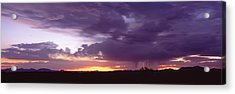 Thunderstorm Clouds At Sunset, Phoenix Acrylic Print by Panoramic Images