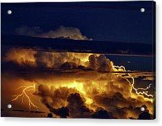 Thunderstorm From Haleakala Acrylic Print by Babak Tafreshi