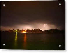 Thunderstorm On The Hasting River Acrylic Print by Sandro Rossi