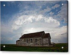 Thunderstorm Over An Old Church Acrylic Print