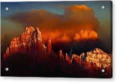 Thunderstorm Over Sedona Acrylic Print by Dale Jackson