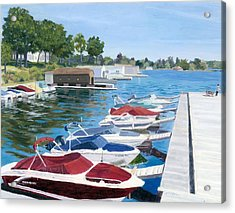 Acrylic Print featuring the painting T.i. Park Marina by Lynne Reichhart