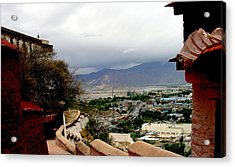 Tibet   Lhasa - Potala Palace - View Of The Dalai Lama Acrylic Print by Jacqueline M Lewis