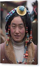 Tibetan Beauty - Kham Acrylic Print by Craig Lovell