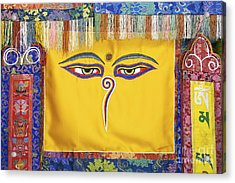 Tibetan Eyes Acrylic Print by Tim Gainey