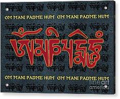 Tibetan Mantra Om Mani Padme Hum Acrylic Print