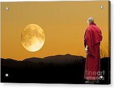 Acrylic Print featuring the digital art Tibetan Monk by Angelika Drake