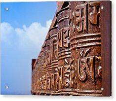 Tibetan Prayer Wheels Acrylic Print