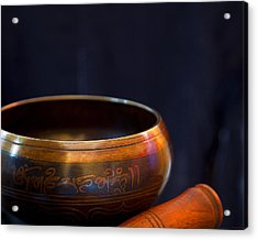 Tibetan Singing Bowl Acrylic Print by Theresa Tahara