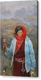 Tibeten Acrylic Print by Victoria Kharchenko