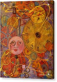 Tic Toc Acrylic Print by Jane Chesnut