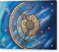 Tick Tock Acrylic Print by Krystyna Spink