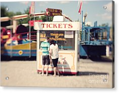 Ticket Booth Acrylic Print by K Hines