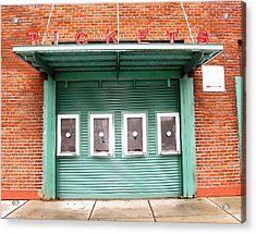 Ticket Booth  Acrylic Print by Michelle Wiltz