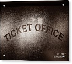 Ticket Office Window Acrylic Print by Olivier Le Queinec