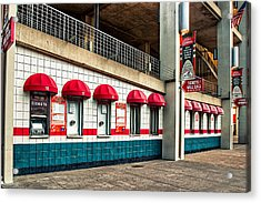 Ticket Windows Acrylic Print by Robert FERD Frank