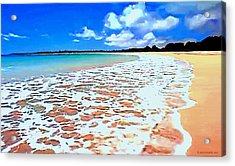 Acrylic Print featuring the painting Tidal Lace by Sophia Schmierer