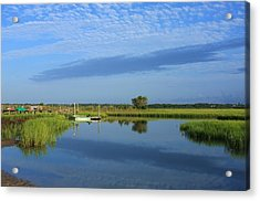 Tidal Marsh At Wrightsville Beach Acrylic Print