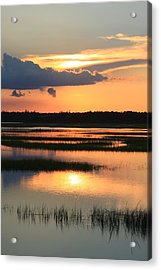 Tidal Marsh- Wilmington Nc Acrylic Print by Mountains to the Sea Photo