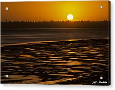 Acrylic Print featuring the photograph Tidal Pattern At Sunset by Jeff Goulden