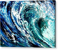Tidal Wave Acrylic Print by Suzanne King