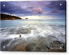 Tide Covered Pavement Acrylic Print by Mike  Dawson