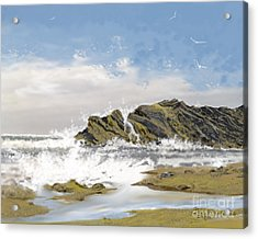 Tide Is Coming In Acrylic Print by Jim Hubbard