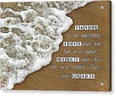 Tide Of Encouragement Acrylic Print by Carolyn Marshall