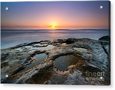 Tide Pool Sunset Acrylic Print by Michael Ver Sprill