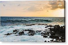 Tide Pool Sunsets In Hawaii Acrylic Print by Brandon McClintock