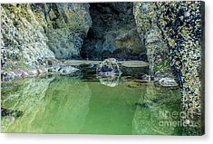 Tidepool Shades Of Green At Sunrise Acrylic Print