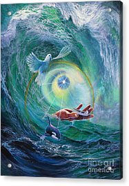 Acrylic Print featuring the painting Tides Of Change by Jeanette French
