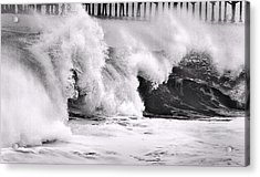 Tides Will Turn Bw By Denise Dube Acrylic Print