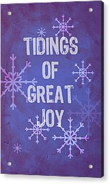 Tidings Of Great Joy Acrylic Print