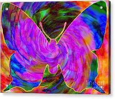 Tie-dye Butterfly Acrylic Print
