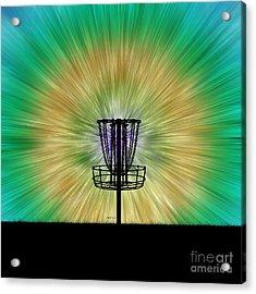 Tie Dye Disc Golf Basket Acrylic Print