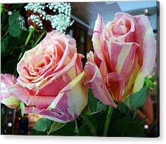 Tie Dye Roses Acrylic Print