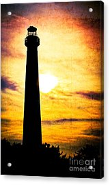 Tie Dye Sky - Lighthouse Acrylic Print by Colleen Kammerer