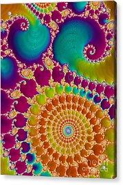 Tie Dye Spiral  Acrylic Print