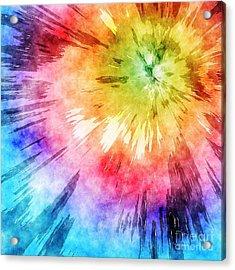 Tie Dye Watercolor Acrylic Print