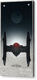 Tie Fighter Acrylic Print by Baltzgar
