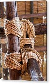 Tie Rope Acrylic Print by Tad Kanazaki
