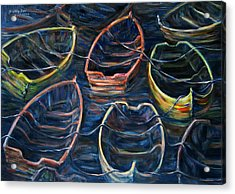 Tie Together In The Wind Acrylic Print by Xueling Zou